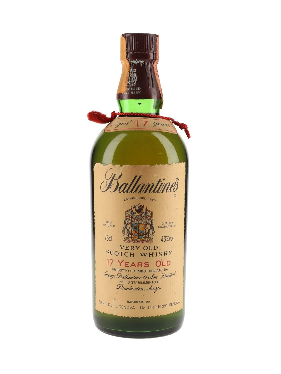 Ballantine's 17 Year Old Bottled 1970s 75cl / 43%