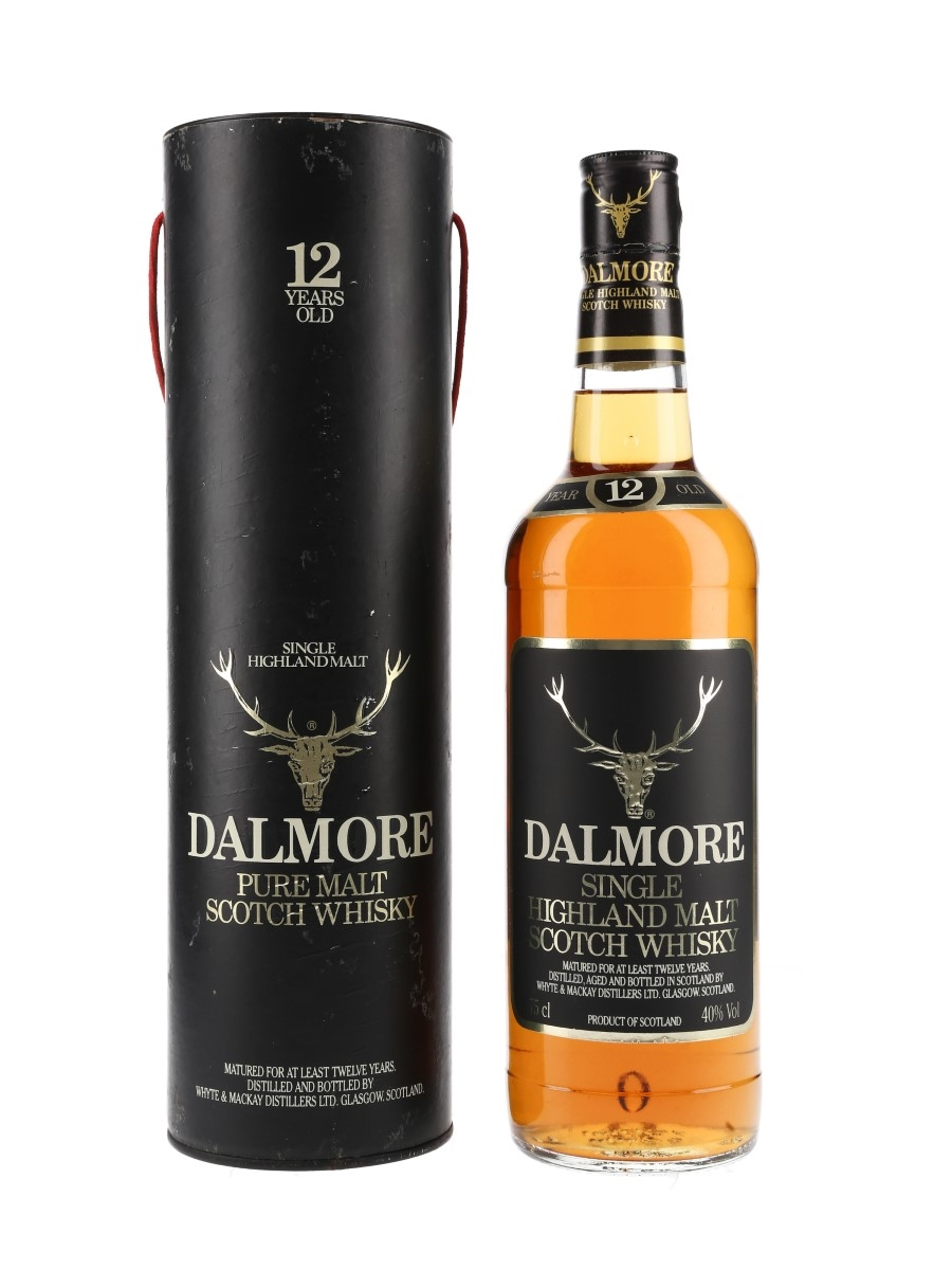 Dalmore 12 Year Old Bottled 1980s - Whyte & Mackay Distillers Ltd 75cl / 40%