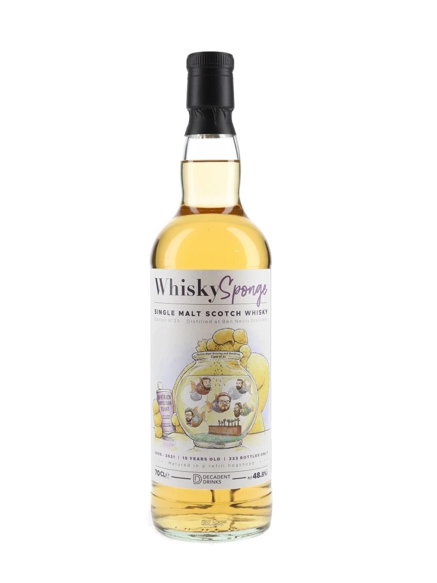 Ben Nevis 2005 15 Year Old Whisky Sponge Bottled 2021 - Decadent Drinks 70cl / 48.5%