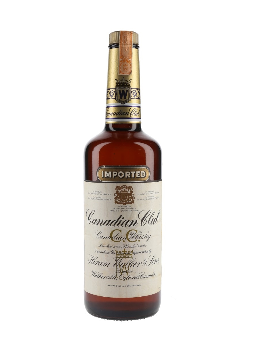 Canadian Club Bottled 1970s 75cl