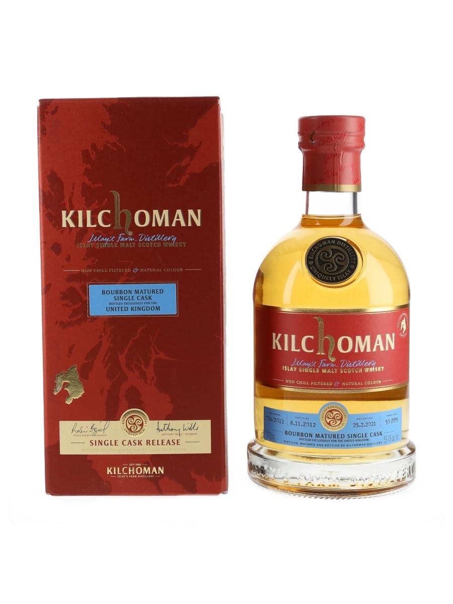 Kilchoman 2012 Single Bourbon Cask 726 Bottled 2021 70cl / 55.4%