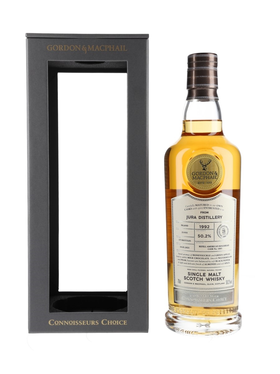 Jura 1992 28 Year Old Connoisseurs Choice Bottled 2021 - Gordon & MacPhail 70cl / 50.2%