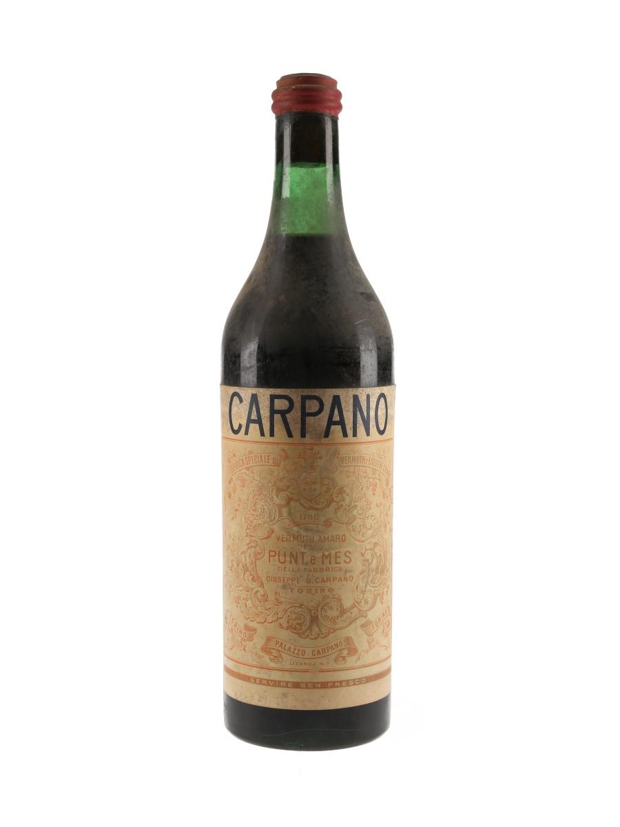 Carpano Punt E Mes Bottled 1950s-1960s 100cl