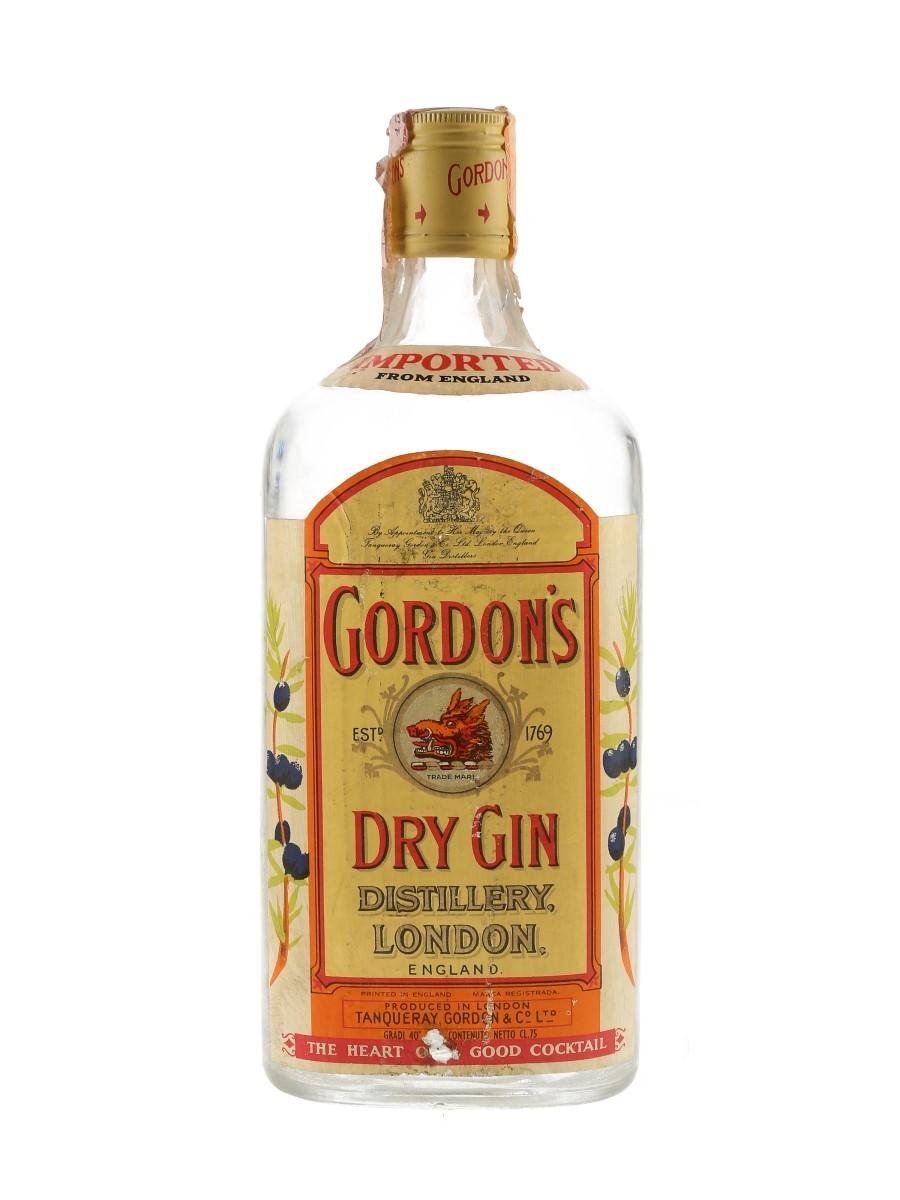 Gordon's Dry Gin Bottled 1980s 75cl / 40%