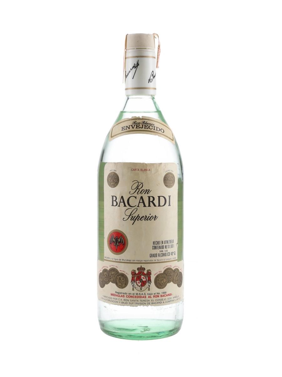 Bacardi Carta Blanca Bottled 1970s-1980s - Venezuela 100cl / 40%