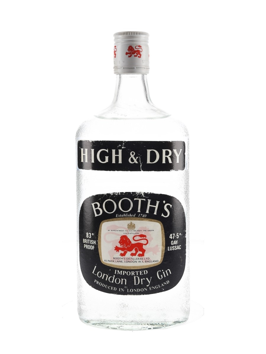 Booth's High & Dry Bottled 1970s 100cl / 47.5%