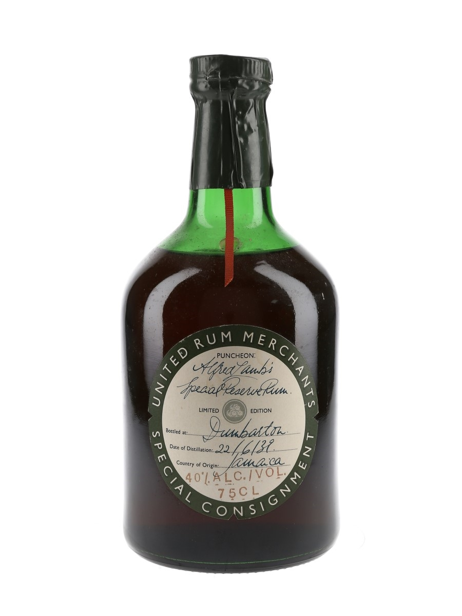 Alfred Lamb's 1939 Special Reserve United Rum Merchants 75cl / 40%