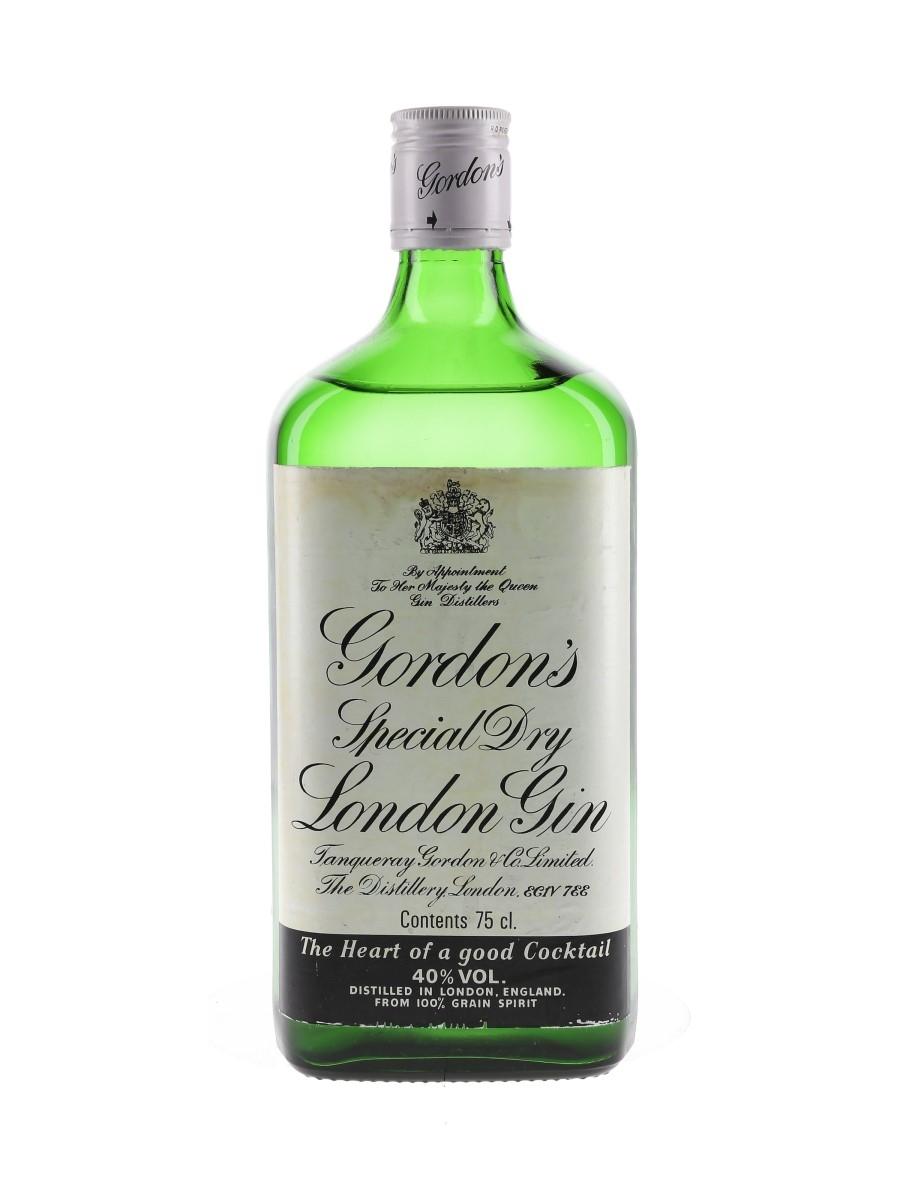 Gordon's Special Dry London Gin Bottled 1980s 75cl / 40%