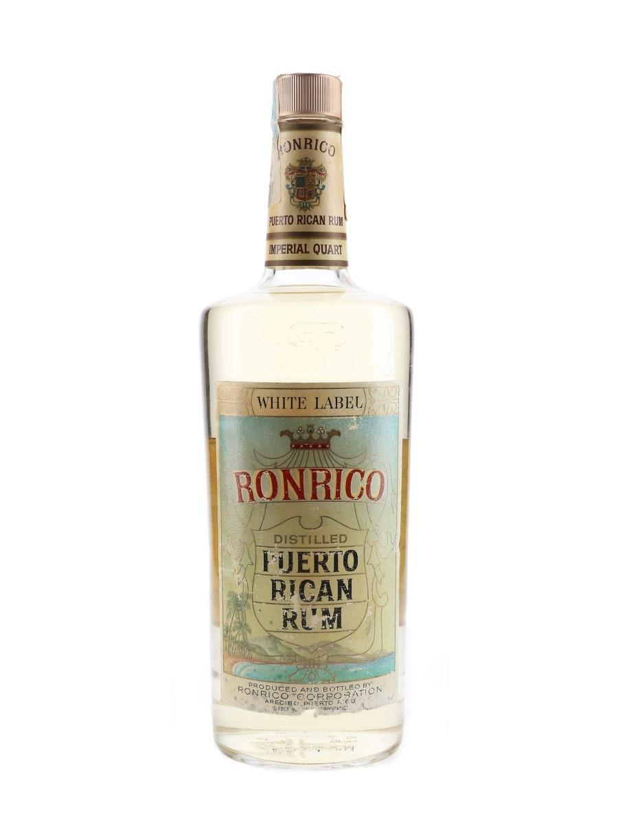 Ronrico White Label Rum Bottled 1970s 113.6cl / 40%