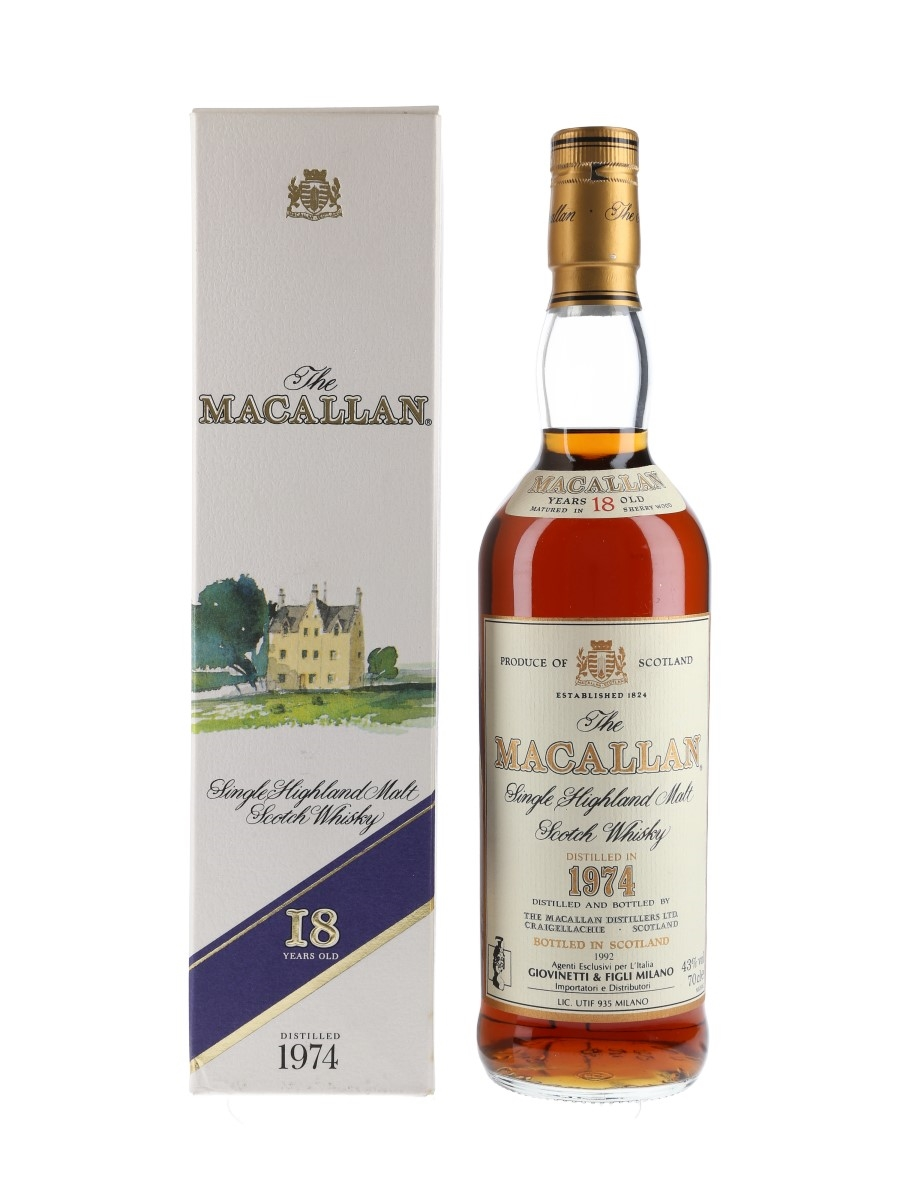 Macallan 1974 18 Year Old Bottled 1992 - Giovinetti 70cl / 43%