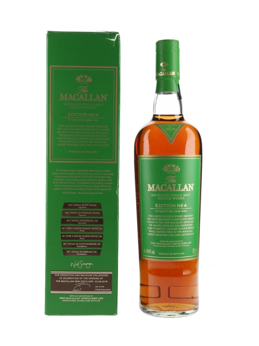 Macallan Edition No.4 For Edrington And Maxxium Colleagues 70cl / 48.4%