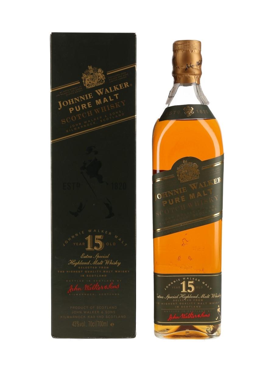Johnnie Walker 15 Year Old Pure Malt Green Label Bottled 1990s 70cl / 43%