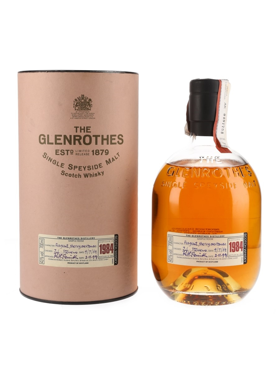 Glenrothes 1984 Bottled 1995 - Ramos Pinto 70cl / 43%