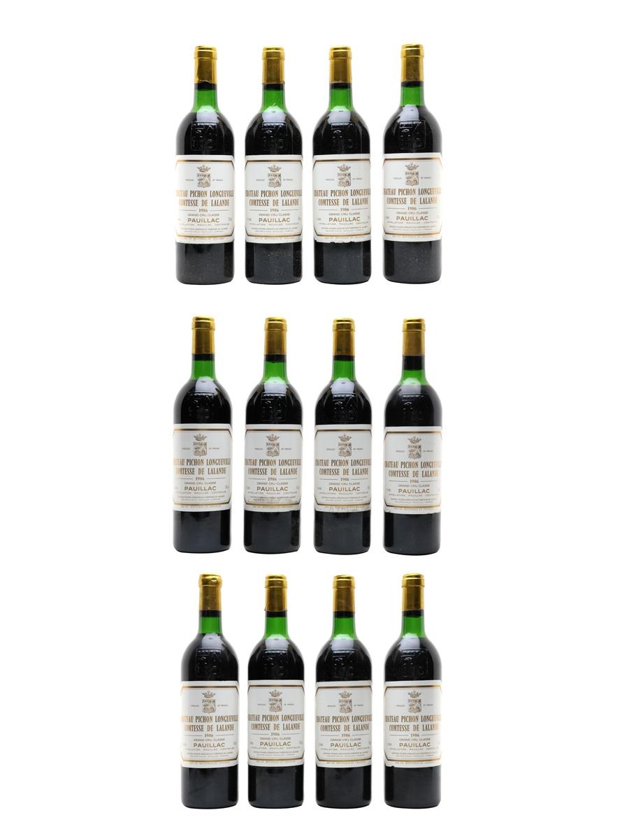 Chateau Pichon Longueville Comtesse De Lalande 1986 Grand Cru Classe - Pauillac 12 x 75cl / 12.5%