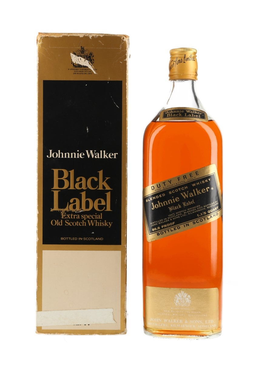 Johnnie Walker Black Label Bottled 1970s - Duty Free 114cl / 43.4%
