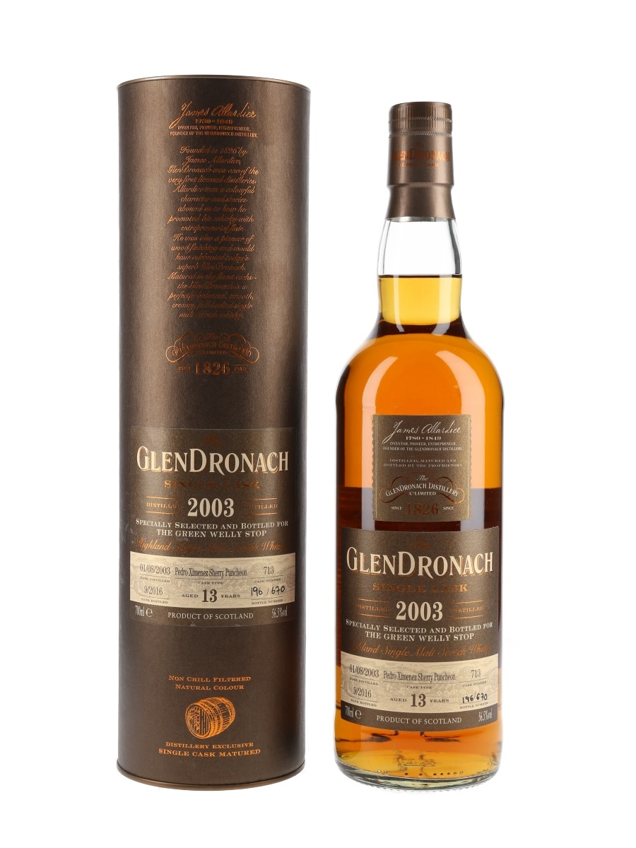 Glendronach 2003 Single Cask 13 Year Old - The Green Welly Stop 70cl / 56.5%