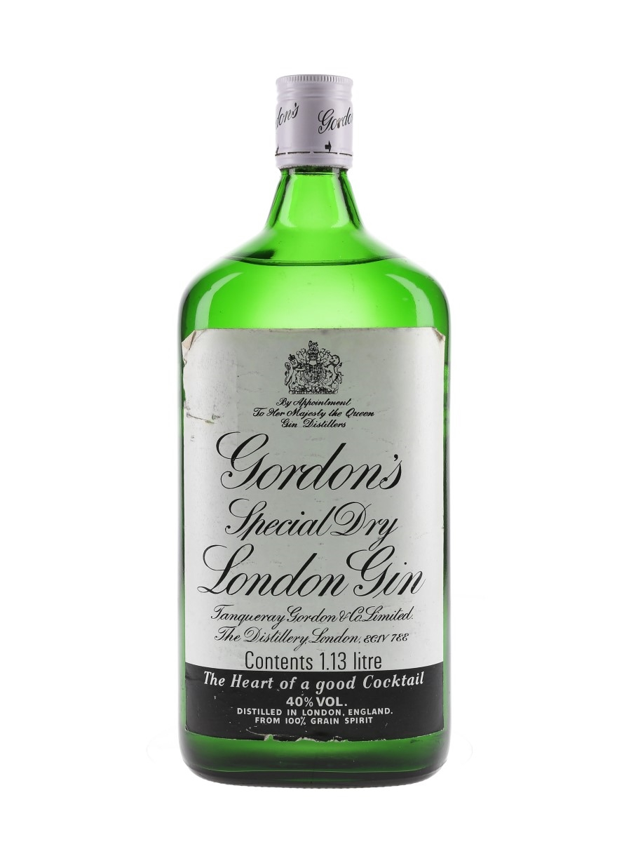 Gordon's Special Dry London Gin Bottled 1980s - Large Format 113cl / 40%