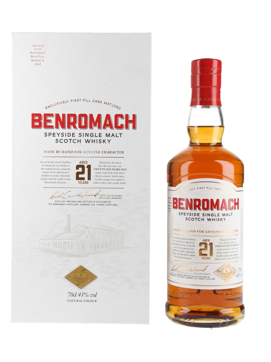Benromach 21 Year Old Bottled 2020 70cl / 43%
