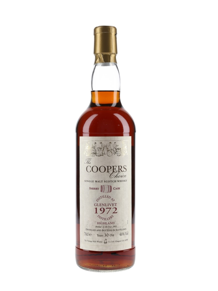 Glenlivet 1972 30 Year Old The Coopers Choice Bottled 2003 70cl / 46%