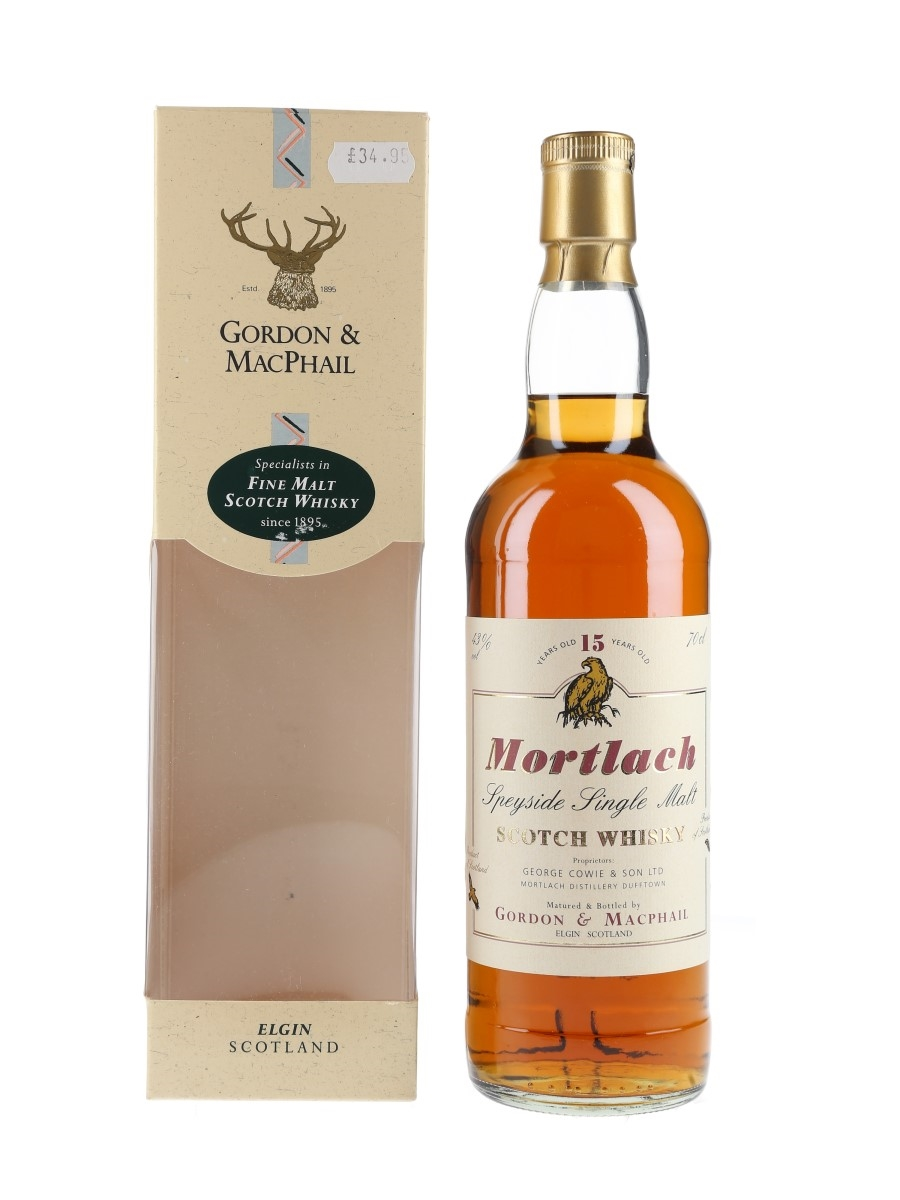 Mortlach 15 Year Old Bottled 2000s - Gordon & MacPhail 70cl / 43%