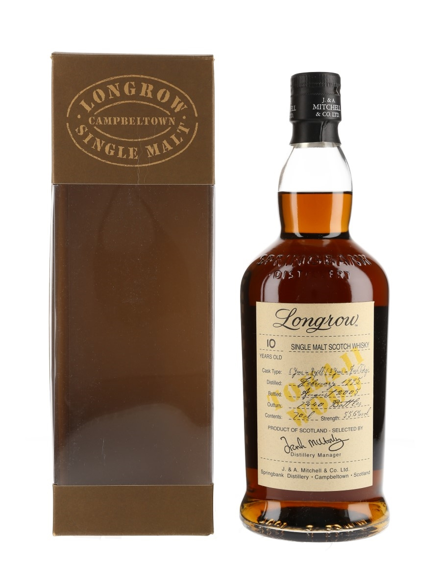 Longrow 1995 10 Year Old Bottled 2005 70cl / 55.6%