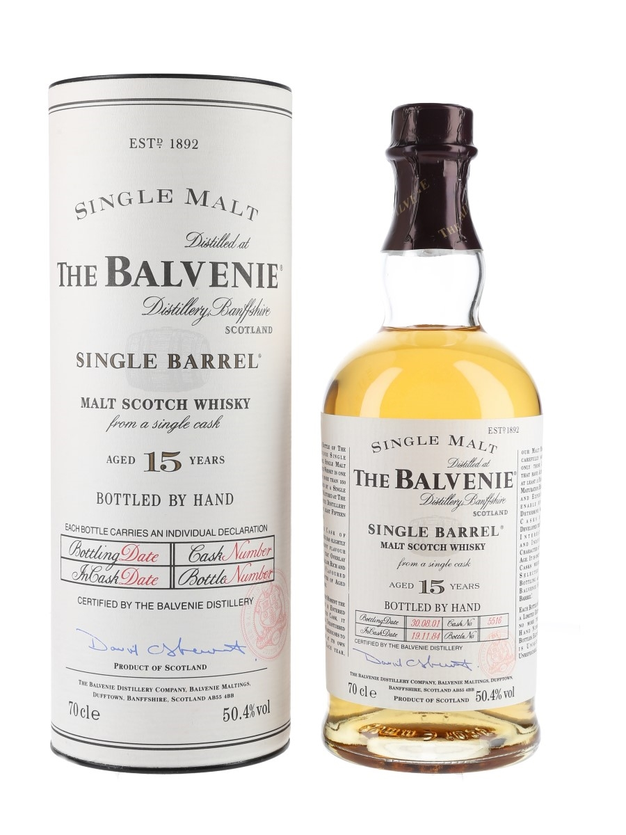 Balvenie 1984 15 Year Old Single Barrel 5516 Bottled 2004 70cl / 50.4%