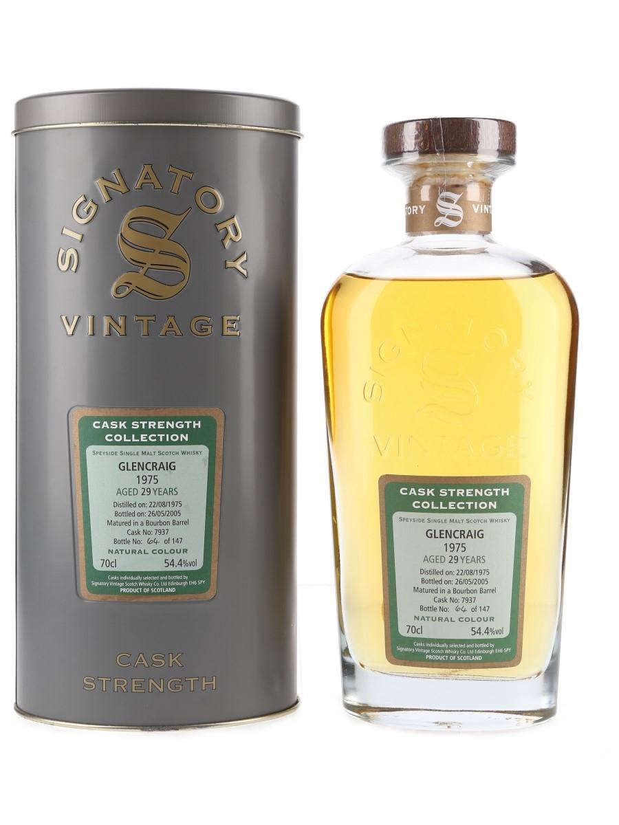 Glencraig 1975 29 Year Old Bottled 2005 - Signatory Vintage 70cl / 54.4%