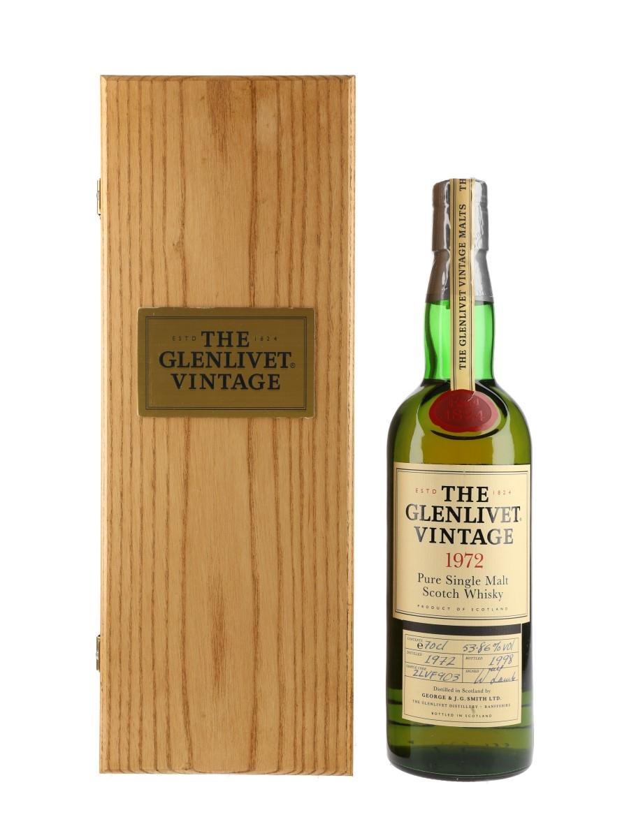 Glenlivet 1972 Vintage Bottled 1998 70cl / 53.86%