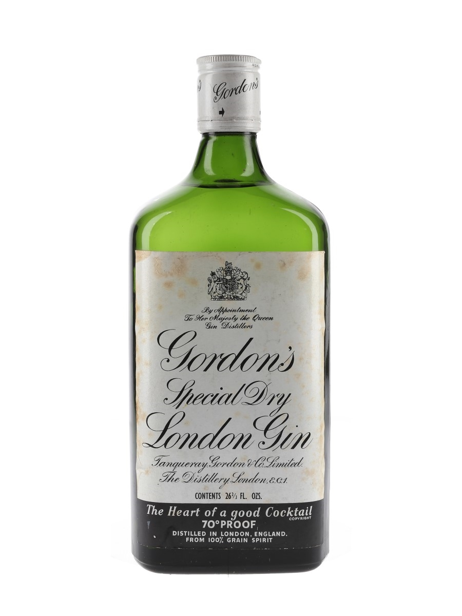 Gordon's Special Dry London Gin Bottled 1960s 75.7cl / 40%
