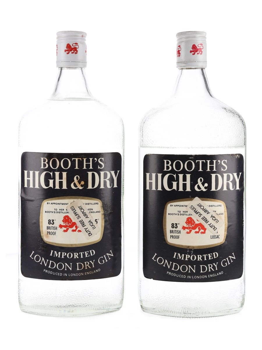 Booth's High & Dry Bottled 1970s 2 x 100cl / 47.5%