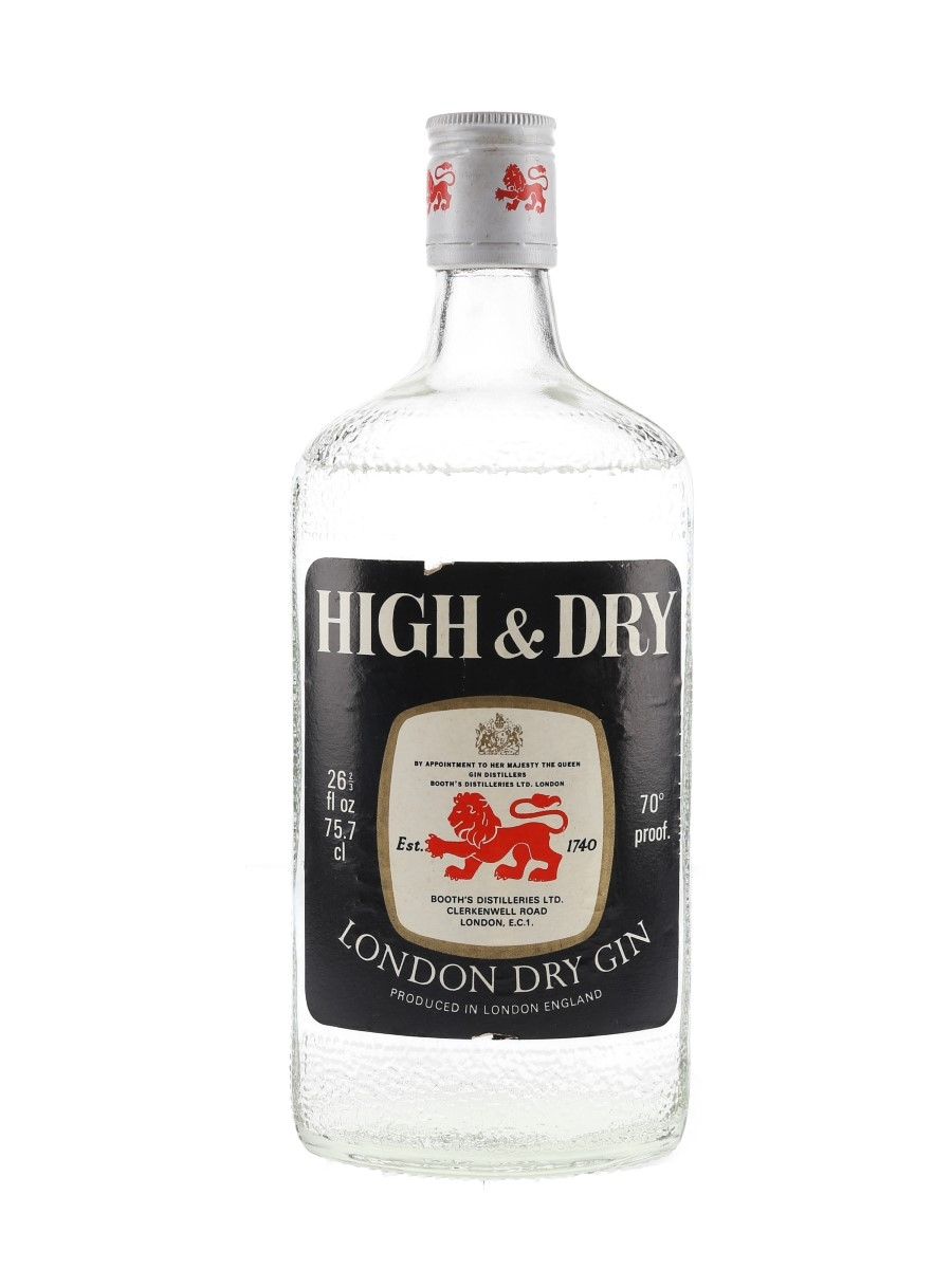 Booth's High & Dry Bottled 1970s 75.7cl / 40%