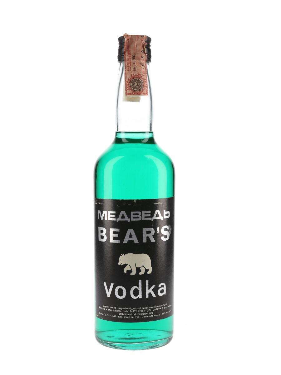Bear's Vodka Bottled 1970s 75cl / 42%