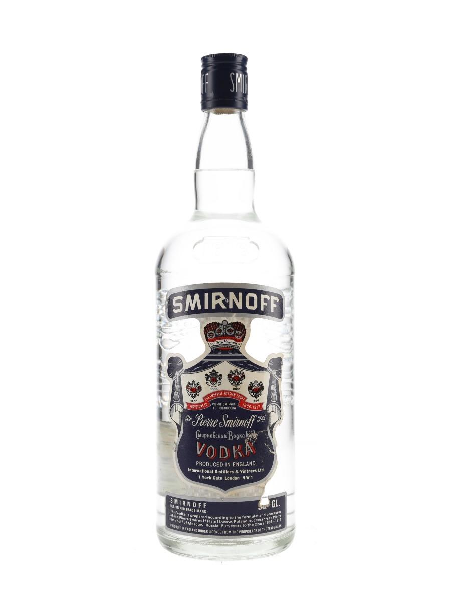 Smirnoff Blue Label Bottled 1970s-1980s - England 100cl / 50%