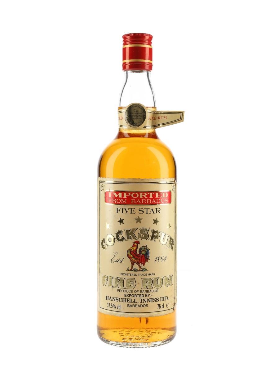 Cockspur 5 Star Bottled 1980s 75cl / 37.5%
