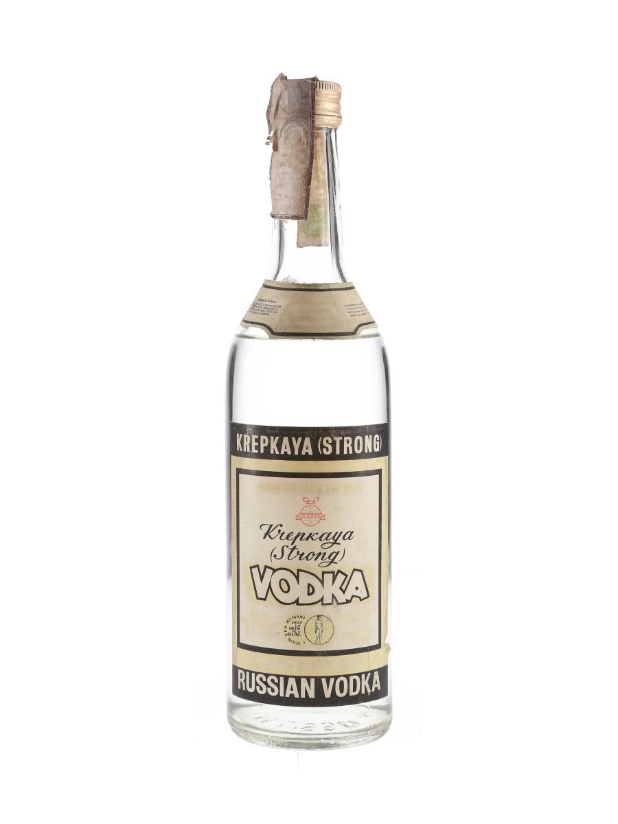 Krepkaya Strong Vodka Bottled 1970s 50cl / 56%