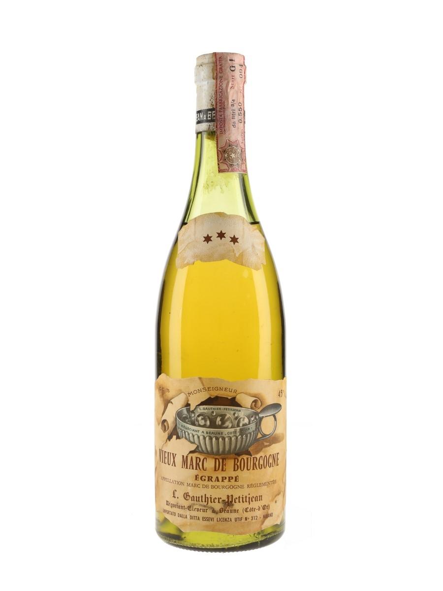Gauthier Petitjean Vieux Marc De Bourgogne Egrappe 3 Star Bottled 1960s 75cl / 45%