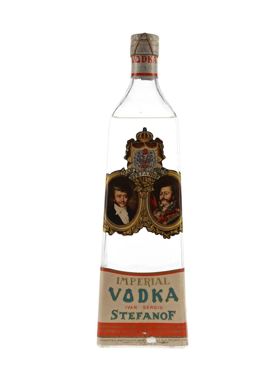 Stefanof Imperial Vodka Bottled 1950s - Buton 75cl / 40%