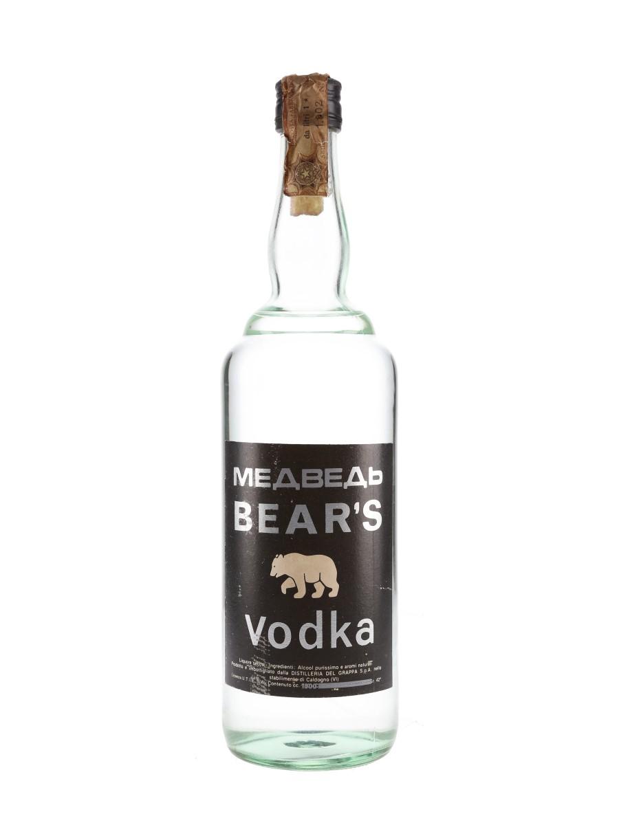 Bear's Vodka Bottled 1970s 100cl / 42%