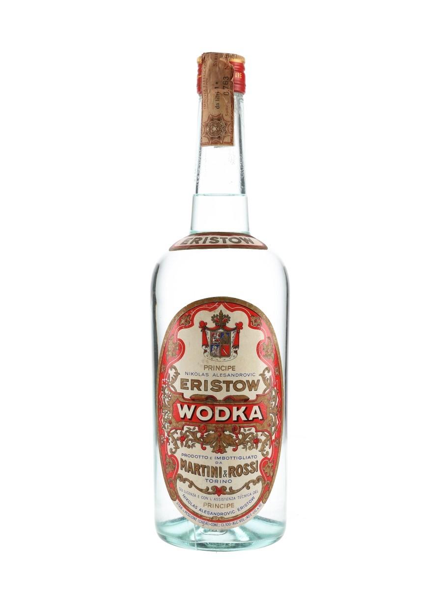 Eristow Vodka Bottled 1960s - Martini & Rossi 100cl / 40%