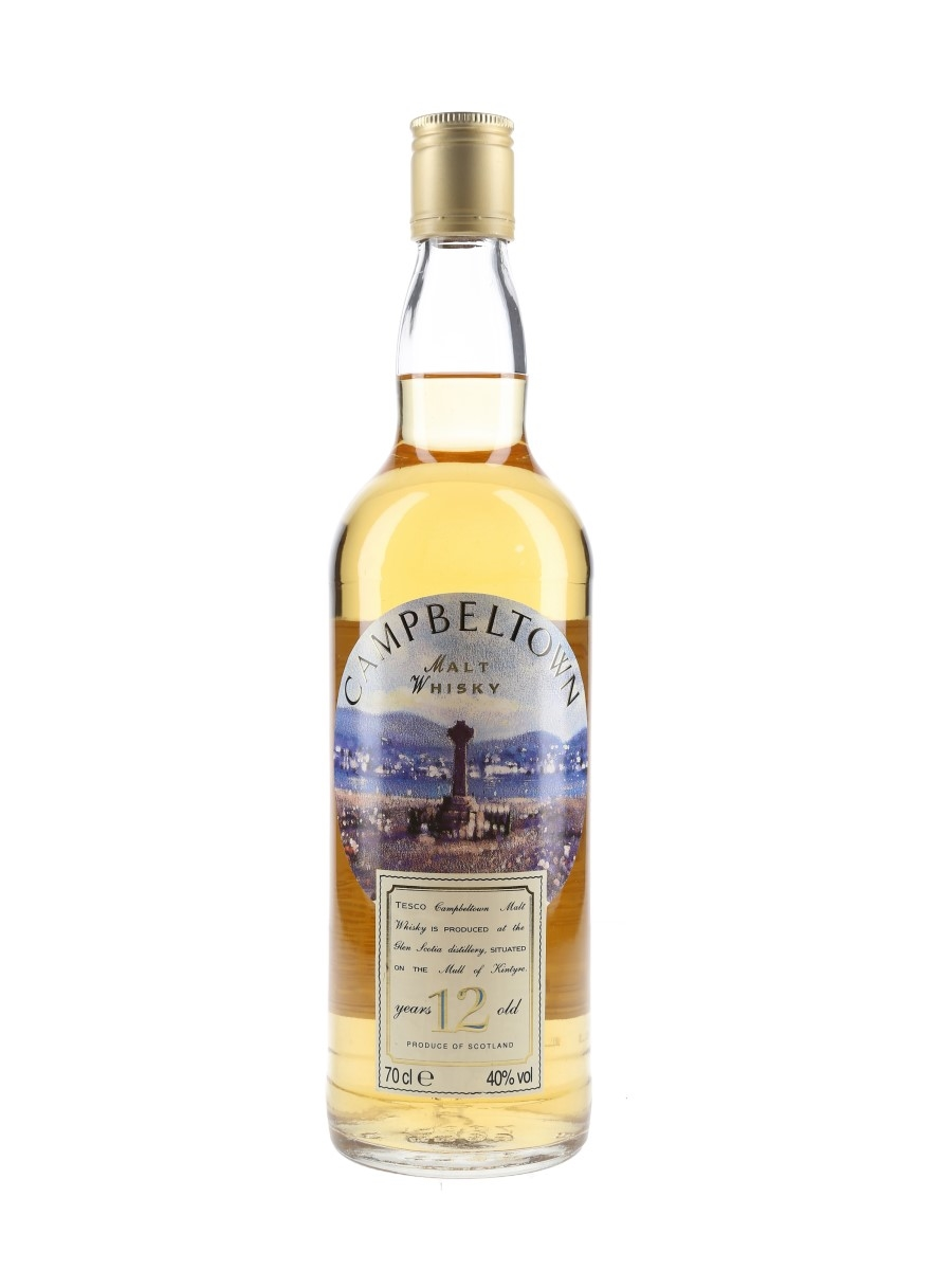 Glen Scotia 12 Year Old Bottled 1990s - Tesco 70cl / 40%