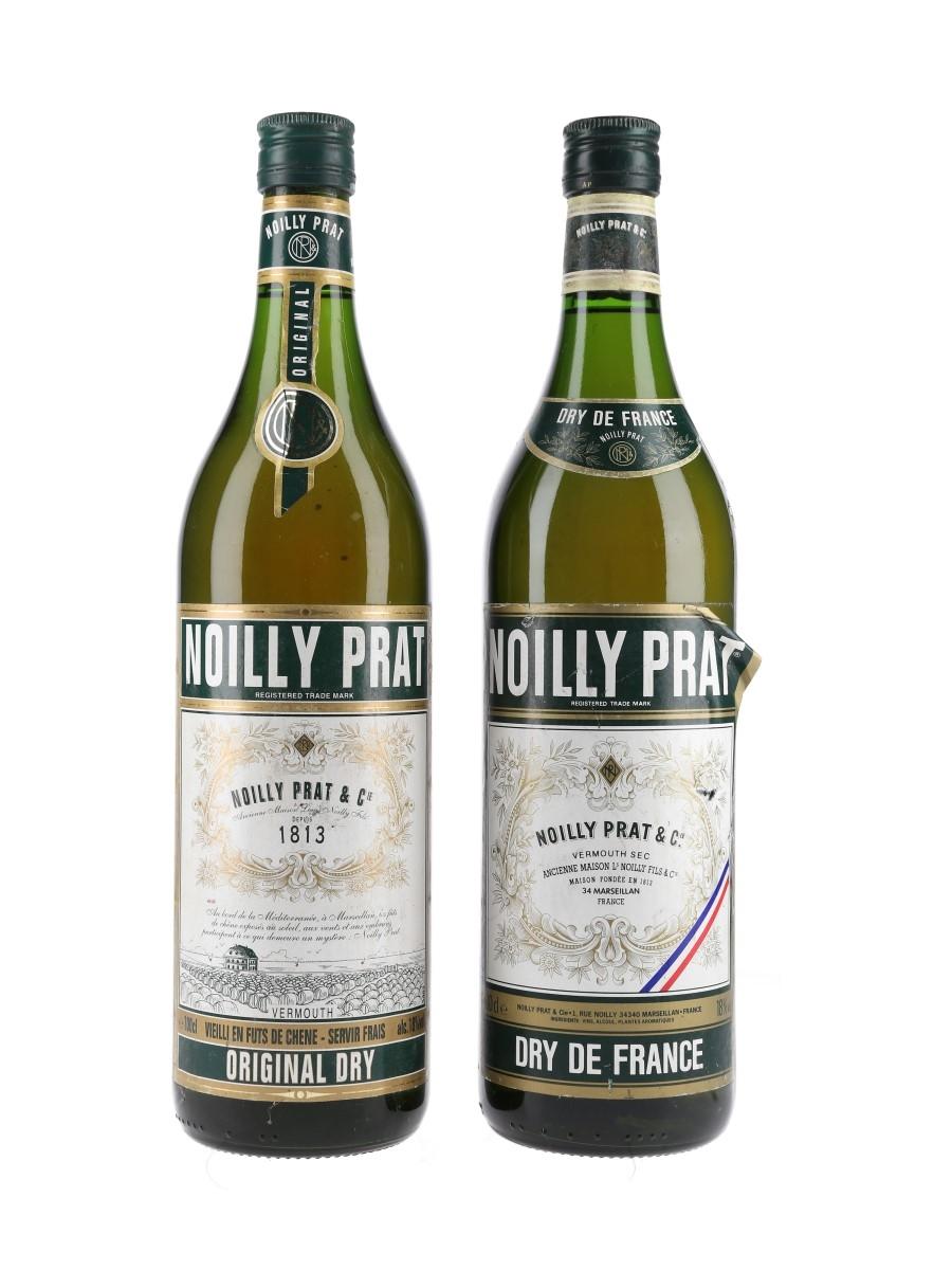 Noilly Prat Original Dry Vermouth Bottled 1990s 2 x 100cl / 18%