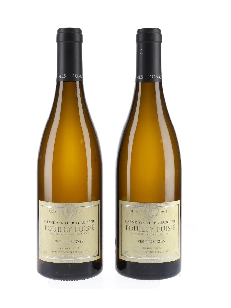 Pouilly Fuisse Vielles Vignes 2011 Domaine Cordier Pere Et Fils 2 x 75cl / 13.5%