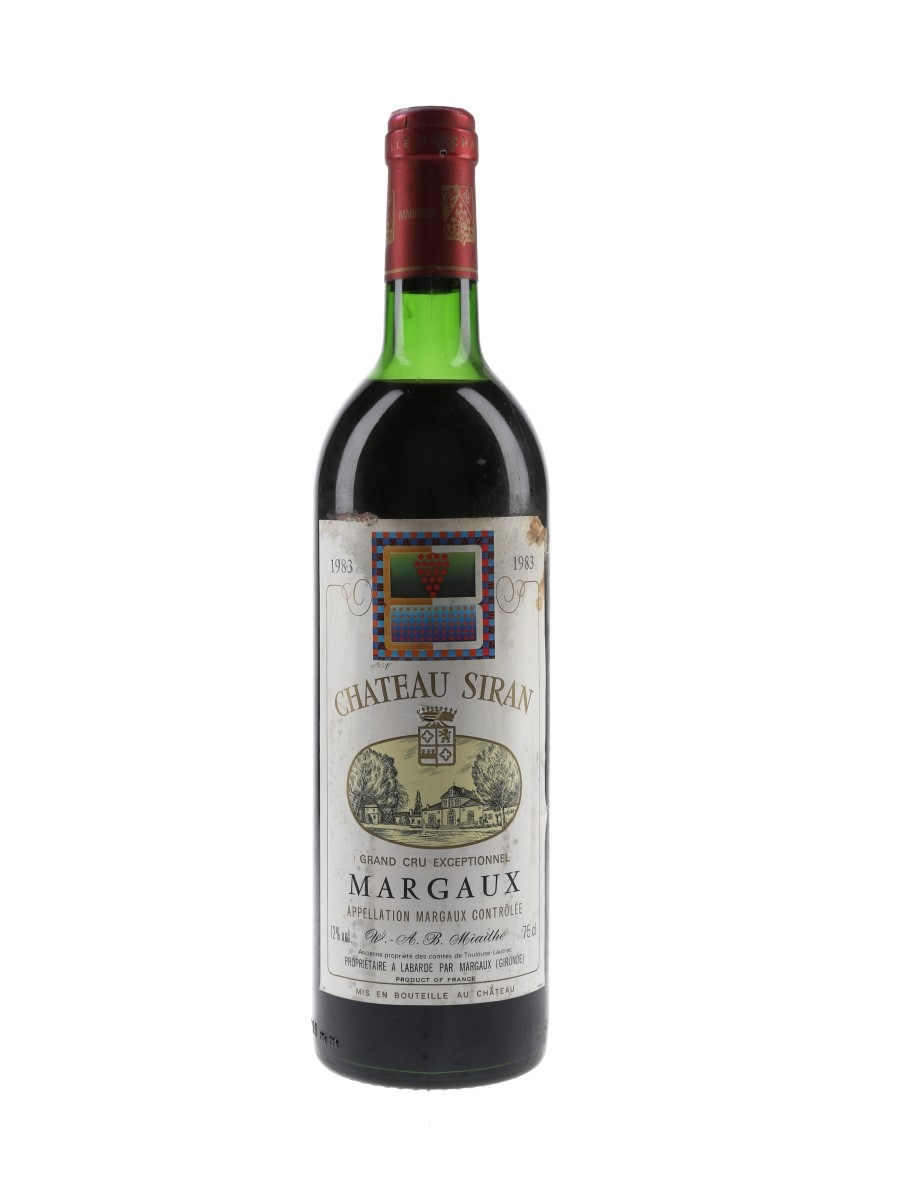 Chateau Siran 1983 Margaux Grand Cru Exceptionnel 75cl / 12%