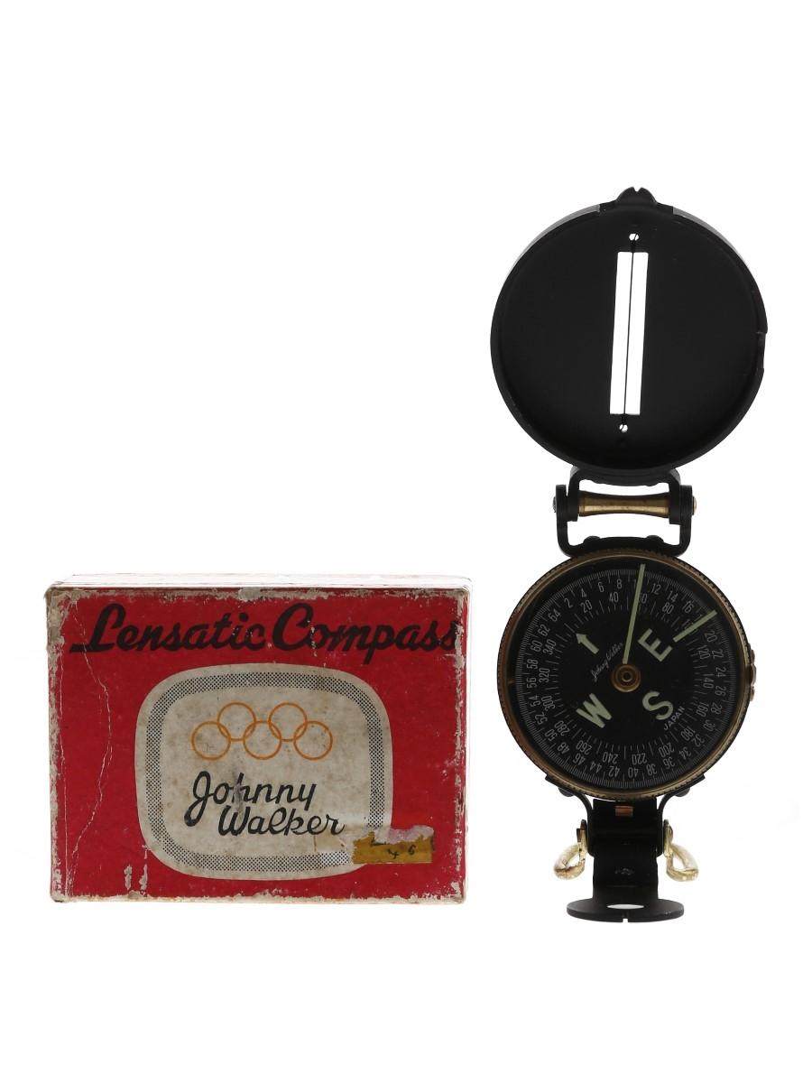 Johnny Walker Lensatic Compass Japan 1964 Olympics