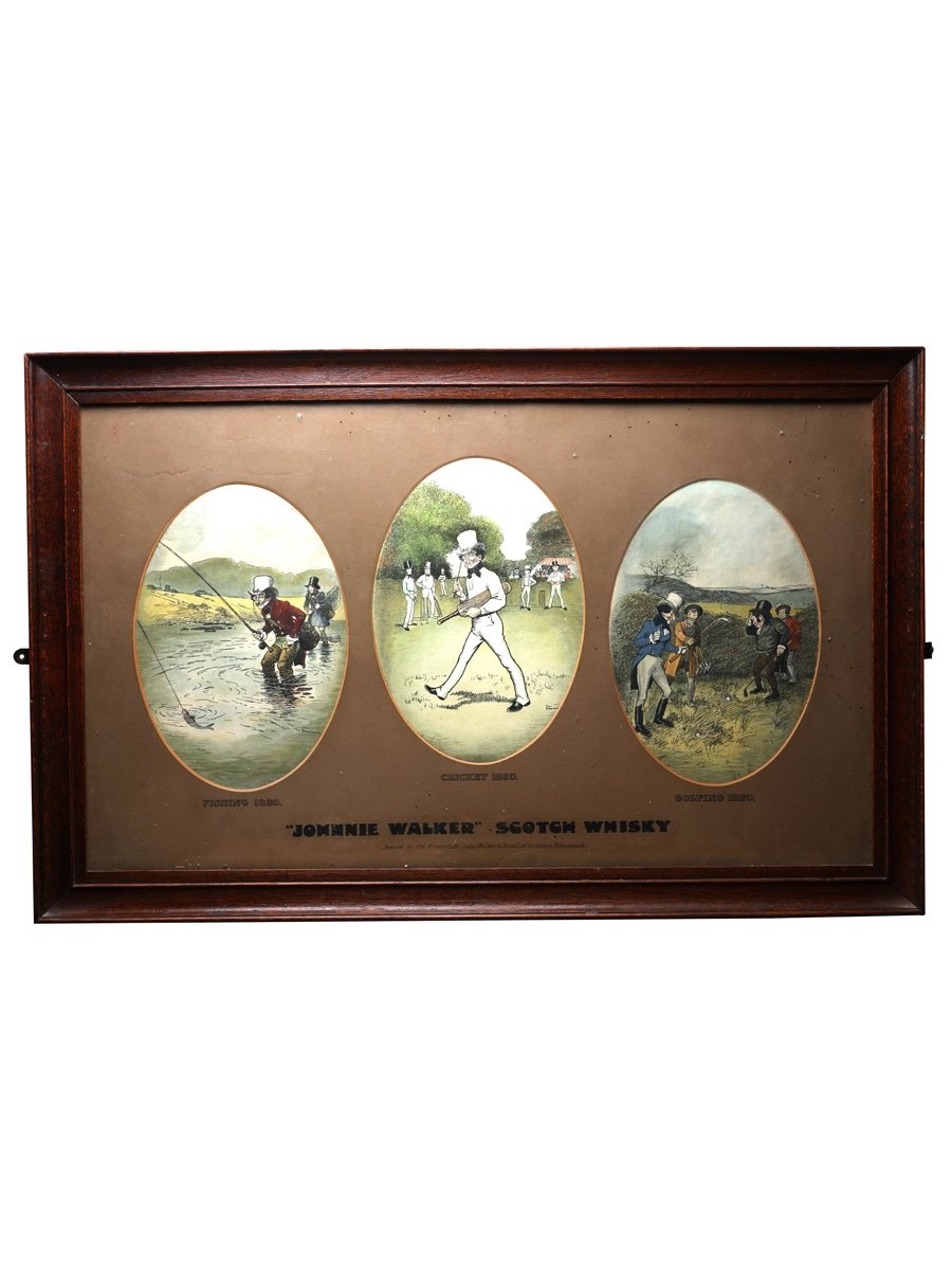Johnnie Walker Sporting Prints Early 20th Century - Tom Browne 86cm x 54cm