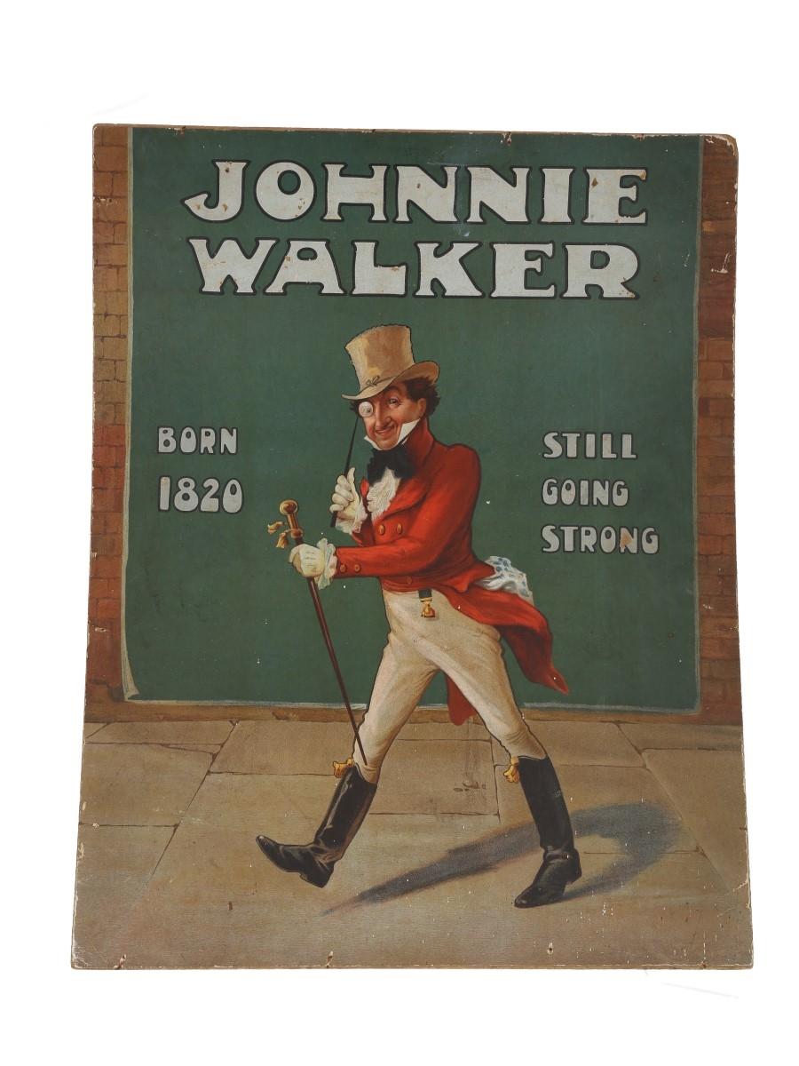 Johnnie Walker Print - Born 1820 Still Going Strong Early 20th Century - Tom Browne 58.5cm x 45.5cm