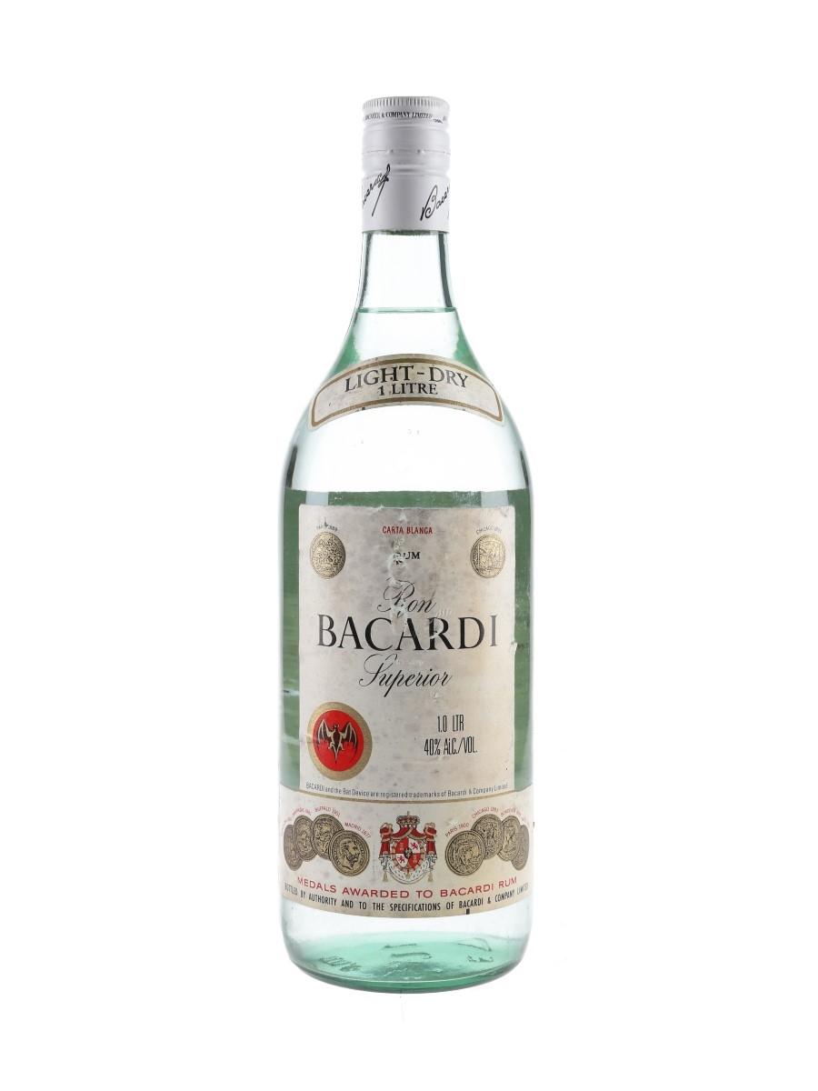 Bacardi Carta Blanca Bottled 1970s 100cl / 40%