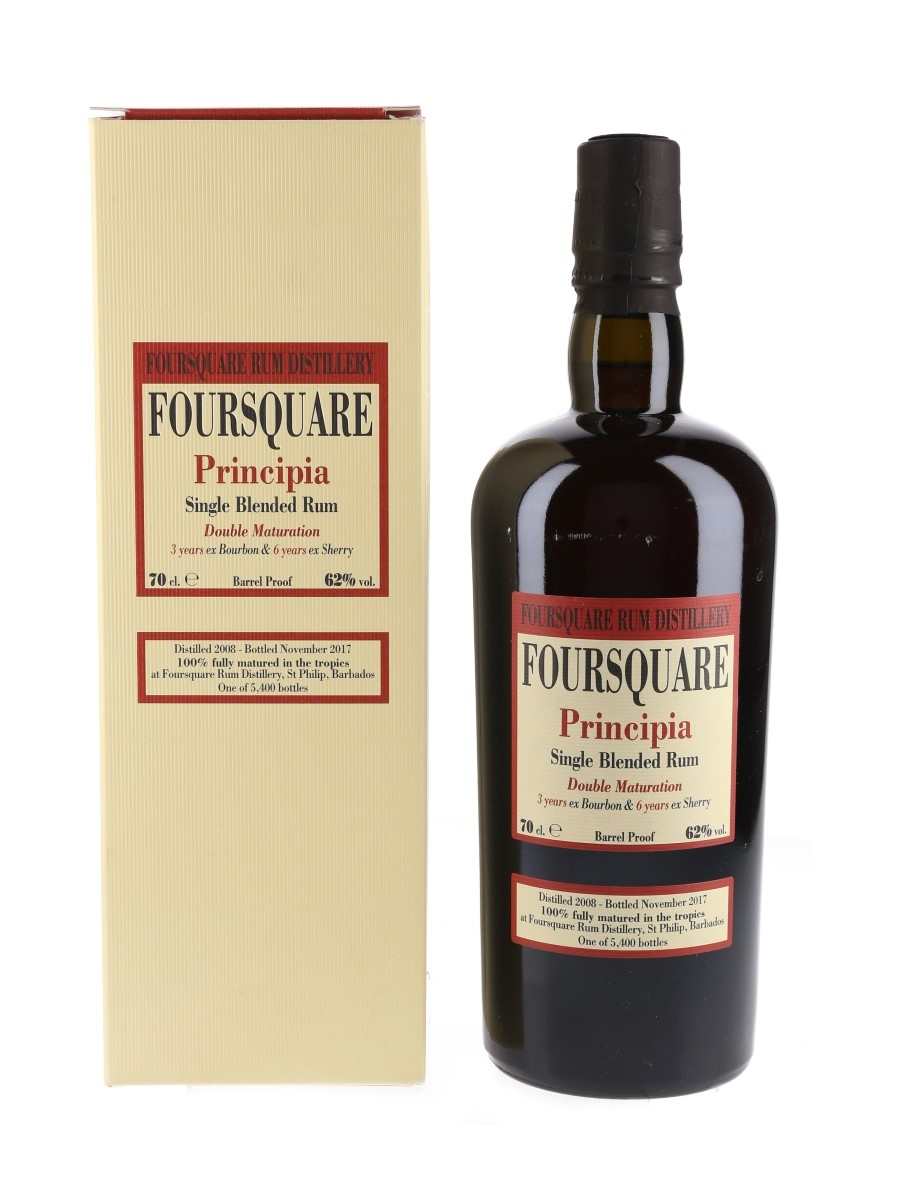 Foursquare Principia 2008 9 Year Old Single Blended Rum Velier 70cl / 62%
