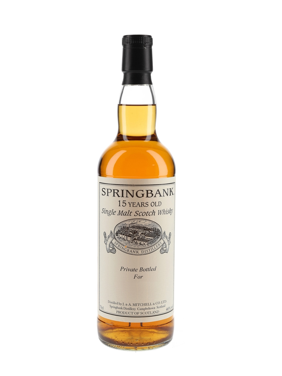Springbank 15 Year Old Private Cask Bottling 70cl / 46%