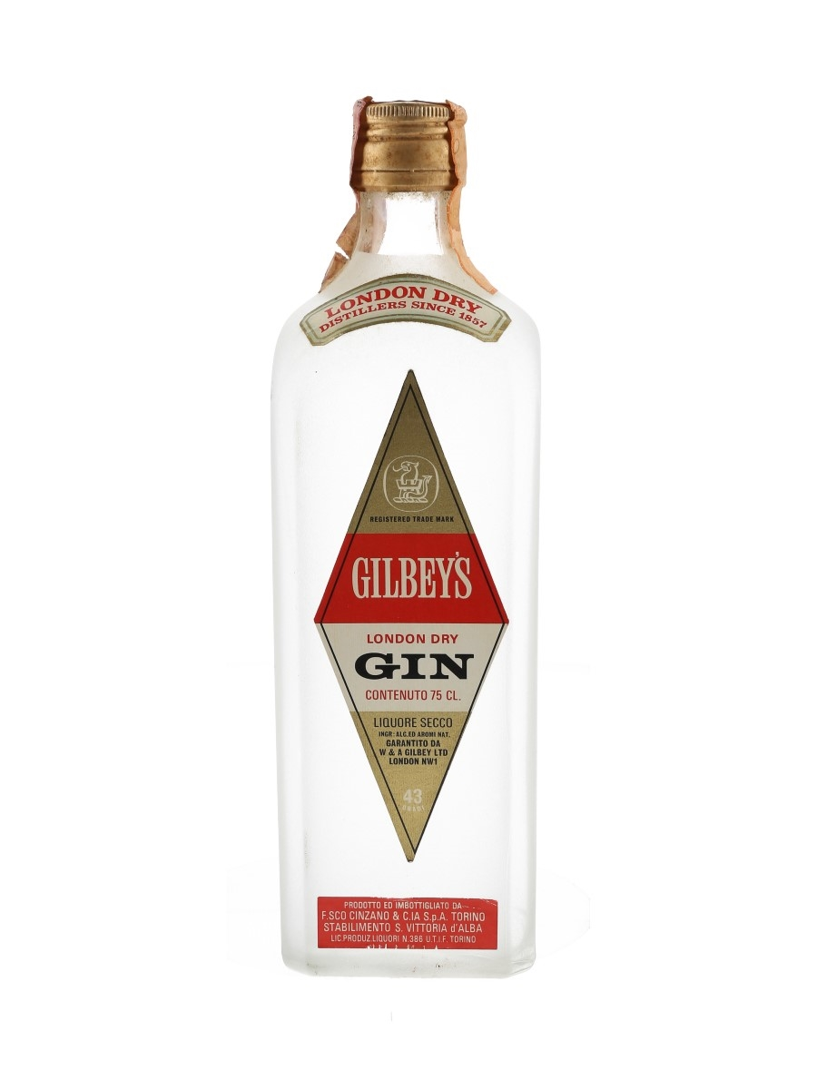 Gilbey's London Dry Gin Bottled 1960s - Cinzano 75cl / 43%